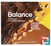 Nutrition Bar, Chocolate Peanut Butter, Balance Bar, 6 Bars, 1.76 oz (50 g) Each