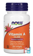 Vitamin A, 10,000 IU, Now Foods, 100 Softgels