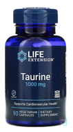 Taurine, Life Extension, 1000 mg, 90 Veggie Caps