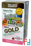 Source of Life, Animal Parade Gold, Children's Chewable Multi-Vitamin & Mineral, Watermelon, Nature's Plus, 120 Animals