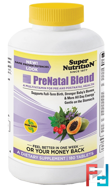 PreNatal Blend, Super Nutrition, 180 Tablets
