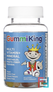 Multi-Vitamin and Mineral, Vegetables, Fruits and Fiber, For Kids, Gummi King, 60 Gummies