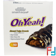 Almond Fudge Brownie, Oh Yeah!, 12 Bars - 3 oz (85 g) Each