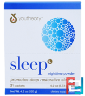 Sleep, Nighttime Powder, Youtheory, 21 Packets, 0.2 oz (5.73 g) Each
