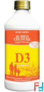 Liquid Nutrients, D3 with K2, Buried Treasure, 16 fl oz, 473 ml