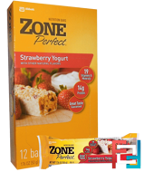 Nutrition Bars, Strawberry Yogurt, ZonePerfect, 12 Bars, 1.76 oz (50 g) Each