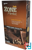 Dark, All-Natural Nutrition Bars, Double Dark Chocolate, ZonePerfect, 12 Bars, 1.58 oz (45 g) Each