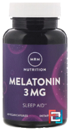 Melatonin, MRM, 3 mg, 60 Vegan Capsules