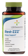 Rest-ZZZ Sleep Support, LifeSeasons, 60 Vegetarian Capsules