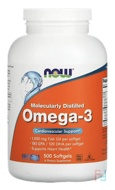 Omega-3, 180 EPA/120 DHA, Now Foods, 500 Softgels