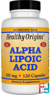 Alpha Lipoic Acid, Healthy Origins, 100 mg, 120 Capsules