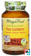 Pure Cranberry, MegaFood, 60 Capsules