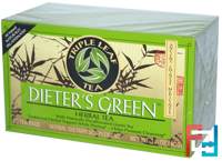 Dieter's Green, Herbal Tea, Decaf, Triple Leaf Tea, 20 Tea Bags, 1.4 oz, 40 g
