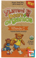 Yummi Bear Organics, Vitamin C, Hero Nutritional Products, 60 Gummy Bears