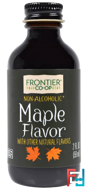 Maple Flavor, Alcohol-Free, Frontier Natural Products, 2 fl oz, 59 ml