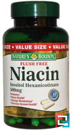 Flush Free Niacin, 500 mg, Nature's Bounty, 120 Capsules