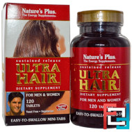 Ultra Hair, Sustained Release, For Men & Women, Nature's Plus, 120 Tablets