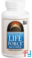 Life Force Multiple, Source Naturals, 180 Tablets