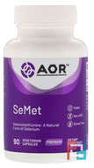 SeMet, Advanced Orthomolecular Research AOR, 90 Vegetarian Capsules