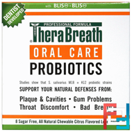 Oral Care Probiotics, Citrus Flavor, TheraBreath, 8 Sugar Free Lozenges