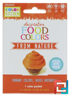 Decorative, Food Colors From Nature, Orange, ColorKitchen, 1 Color Packet, 0.088 oz (2.5 g)