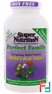 Perfect Family, Energizing Multi-Vitamin, Iron Free, Super Nutrition, 240 Vegetarian Food-Based Tablets