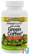 Green Coffee+, Purely Inspired, 100 Veggie Tabs