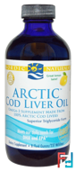 Arctic Cod Liver Oil, Lemon, Nordic Naturals, 8 fl oz (237 ml)
