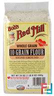 10 Grain Flour, Whole Grain, Bob's Red Mill, 24 oz (680 g)