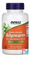Silymarin, Milk Thistle Extract with Artichoke & Dandelion, Double Strength, Now Foods, 300 mg, 100 Veg Capsules