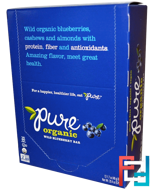Organic Wild Blueberry, Pure Bar, 12 Bars, 1.7 oz (48 g) Each