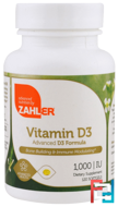 Vitamin D3, Advanced D3 Formula, Zahler, 1,000 IU, 120 Softgels