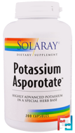 Potassium Asporotate, Solaray, 200 Capsules