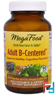 Adult B-Centered, MegaFood, 90 Tablets