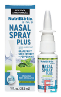 Nasal Spray Plus with Grapefruit Seed Extract, NutriBiotic, 1 fl oz (29.5 ml)