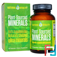 Plant-Sourced Minerals, Natural Vitality, 60 Capsules