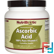 Ascorbic Acid, Crystalline Powder, NutriBiotic, 2.2 lbs (1 kg)