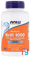 Neptune Krill 1000, Now Foods, 60 Softgels