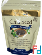 Chia Seed, Omega-3 & Fiber, Spectrum Essentials, 12 oz (340 g)