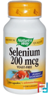 Selenium, Nature's Way, 200 mcg, 100 Capsules