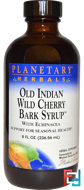 Old Indian Wild Cherry Bark Syrup, Planetary Herbals, 8 fl oz (236.56 ml)