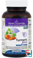 Turmeric Force Nighttime, New Chapter, 60 Vegetarian Capsules