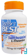 Suntheanine L-Theanine, Doctor's Best, 150 mg, 90 Veggie Caps