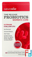 Time Release Probiotics, Women's Care, NatureWise, 40 Sustained Release Caplets