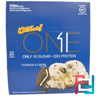 One Bar, Cookies & Cream, Oh Yeah!, 12 Bars, 2.12 oz (60 g) Each