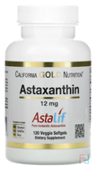 Astaxanthin, Triple-Strength, Natural, U.S. Sourced & Made, No GMOs, California Gold Nutrition, CGN, 12mg, 120 Veggie Softgels