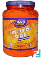 Soy Protein Isolate, Natural Unflavored, Sports, Now Foods, 2 lbs, 907 g