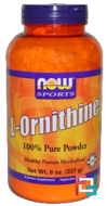 L-Ornithine, Powder,Now Foods,  227 g