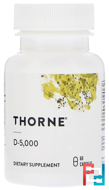 D-5,000, Thorne Research, 5000 IU, 60 Vegetarian Capsules