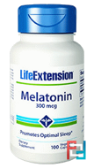 Melatonin, Life Extension, 300 mcg, 100 Veggie Caps